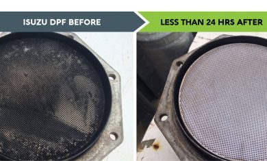 isuzu dpf clean before and after